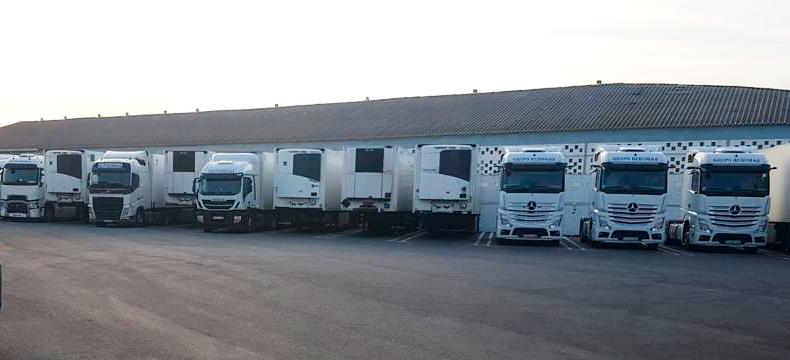 Campa de camiones Grupo Hebomar